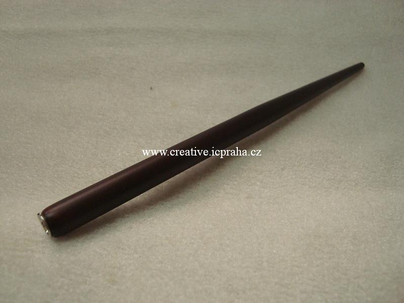 násadka dřev. mahagon lak dl.16,7cm