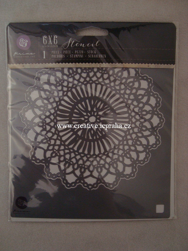 šablona plast PM 16,5 x16,5cm - Mandala