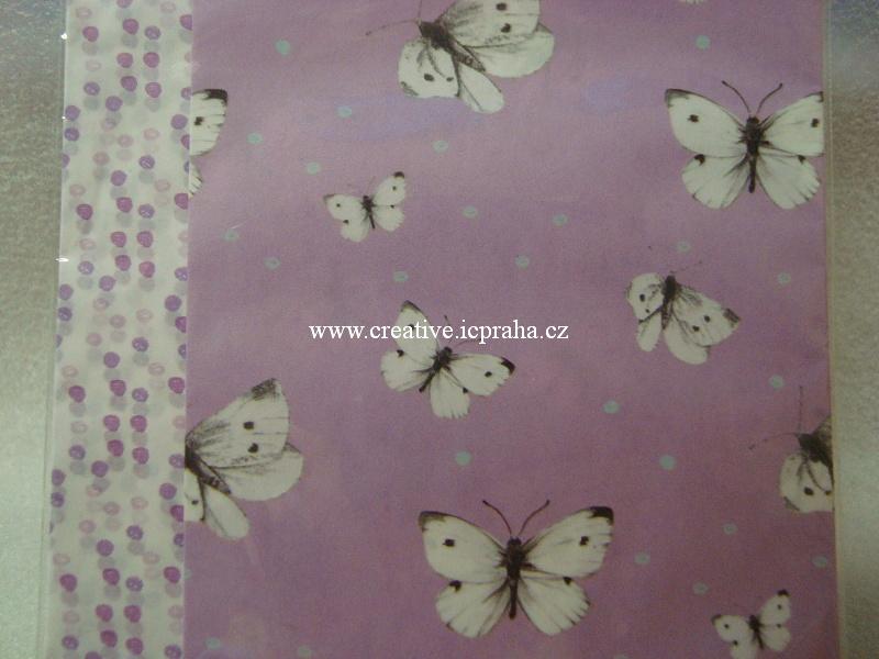 decu papír Motýli a puntíky 18,8x35cm 4ks 036