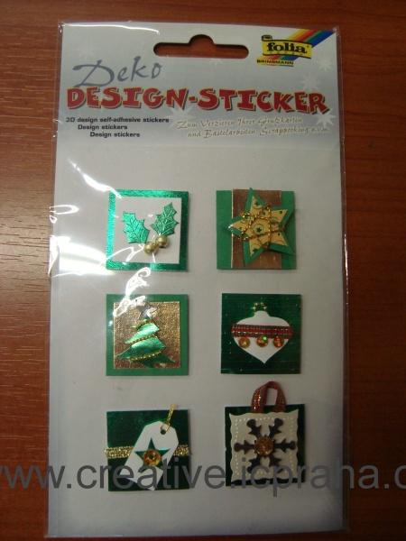 3D nálepky - různé vánoční motivy stř.13209