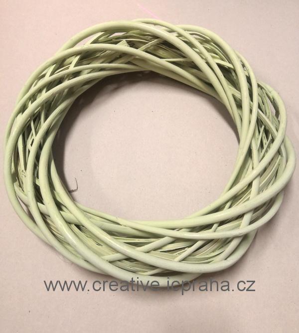 věnec proutí zelený - 35cm
