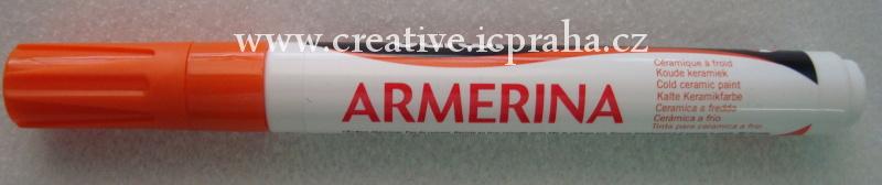 popisovač Armerina na porcelán 6ml - oranžová