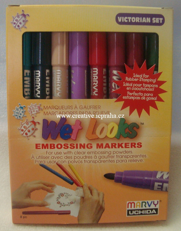 Embossing Markers - Victorian set 8 barev