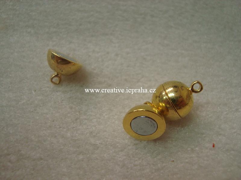 magnetické zapínání kulička s očky POZL 10x15mm
