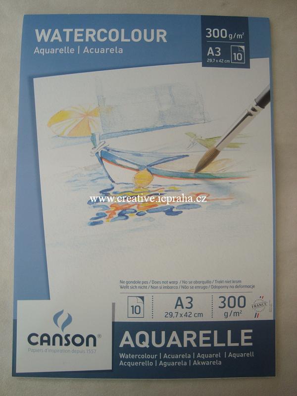 papír A3 29.7x42cm na akryl a akvarel 300g/m2