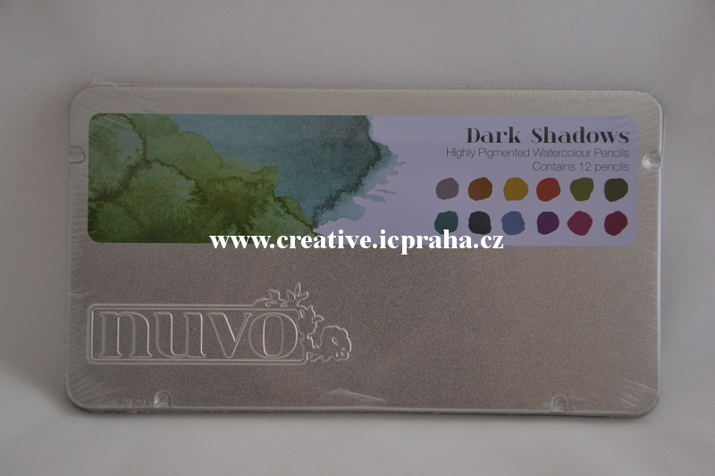 pastelky Nuvo Dark Shadows -  akvarel 12 bar.