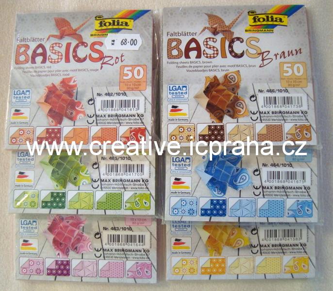 origamipapír  FOLIA 10x10cm bal.100ks F8910