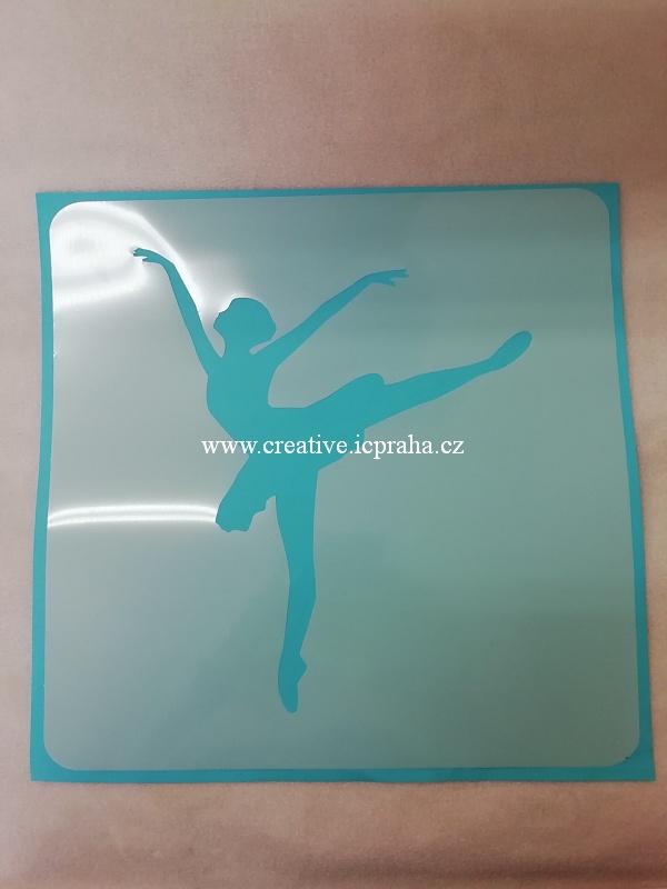 šablona plast ArteMiss 29cm - Baletka 034