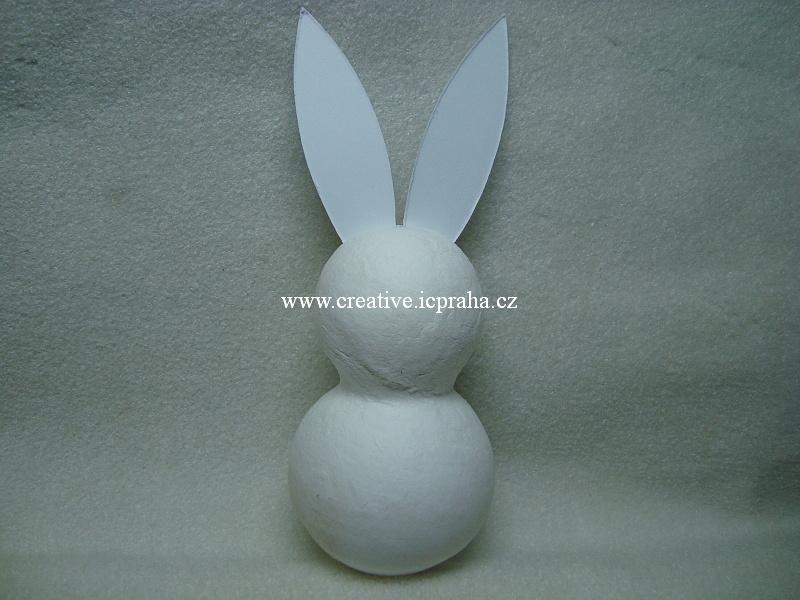 figurka vatová - Zajíc velký 14cm  - 1ks 41005001