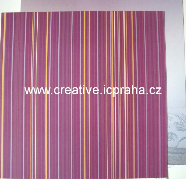 Institut  - proužky/fialová  30x30/190g/m2