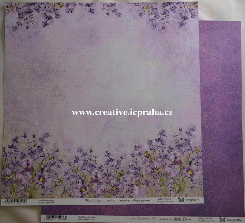 ScrapAndMe Luční květy 05/06 30.5x30.5cm 250g/m2