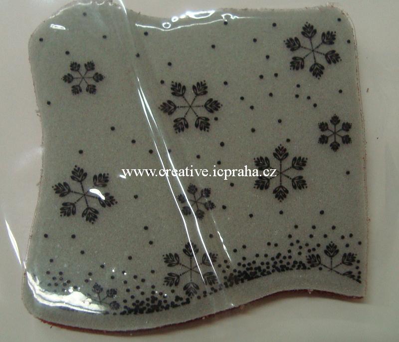razítka Cling Memory Box - Padá sníh - 8x8cm