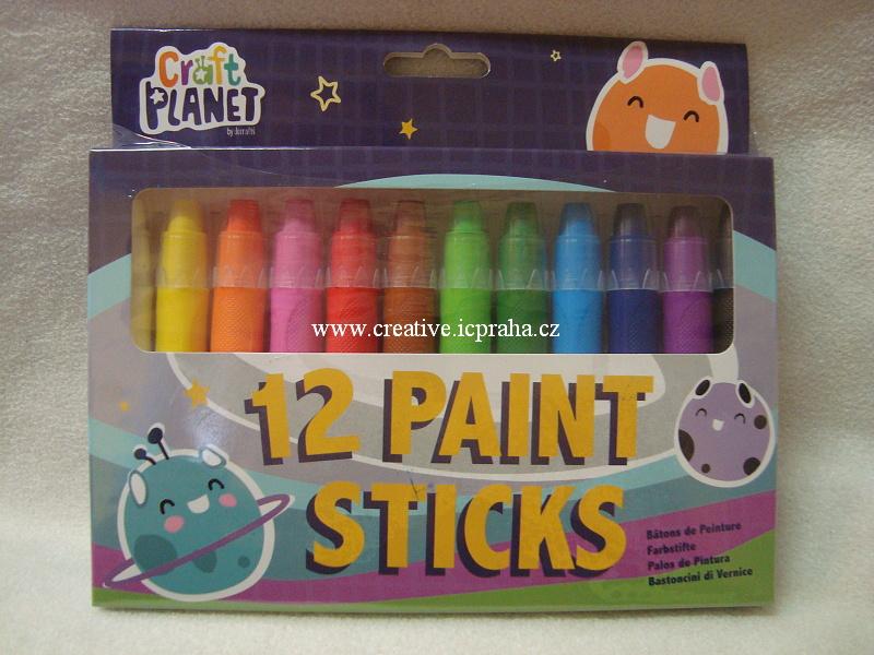 voskovky gelové zákl.barvy bal. 12ks Craft Planet