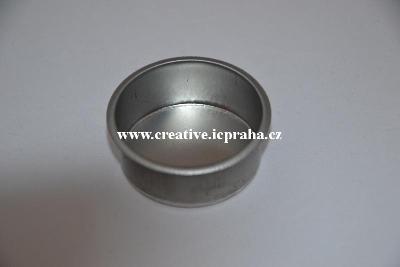 miska kovová pro svíčky prům.4cm výška 1,7cm