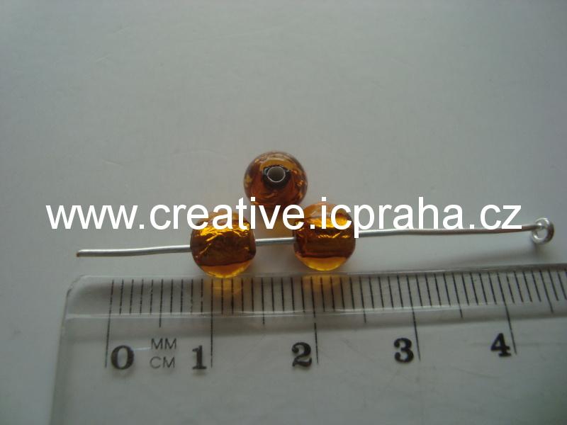 kulička topaz/stříbro 19016 6mm