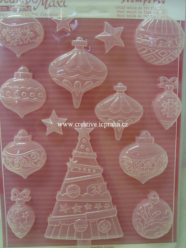 forma Stamperia A4 Vánoční ozdoby a stromeček