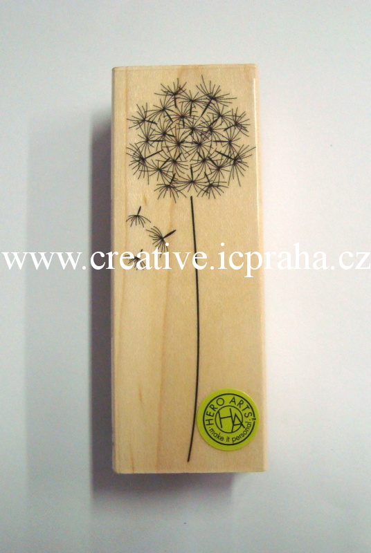 raz. dřevěné Hero Arts - Pampeliška 9,5x3,5cmG4917