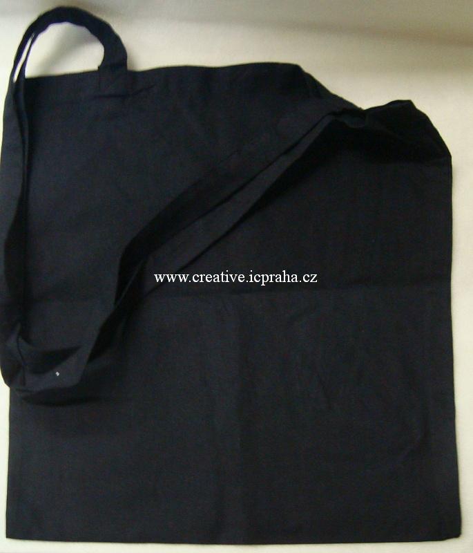 bavlněná taška 38x42cm - dlouhé ucho - černá