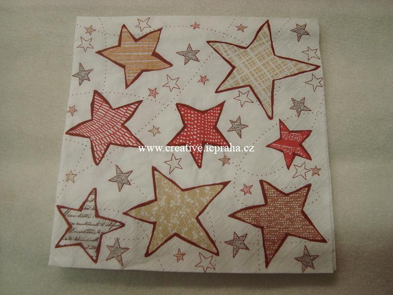 hvězdičky na bílé Daisy