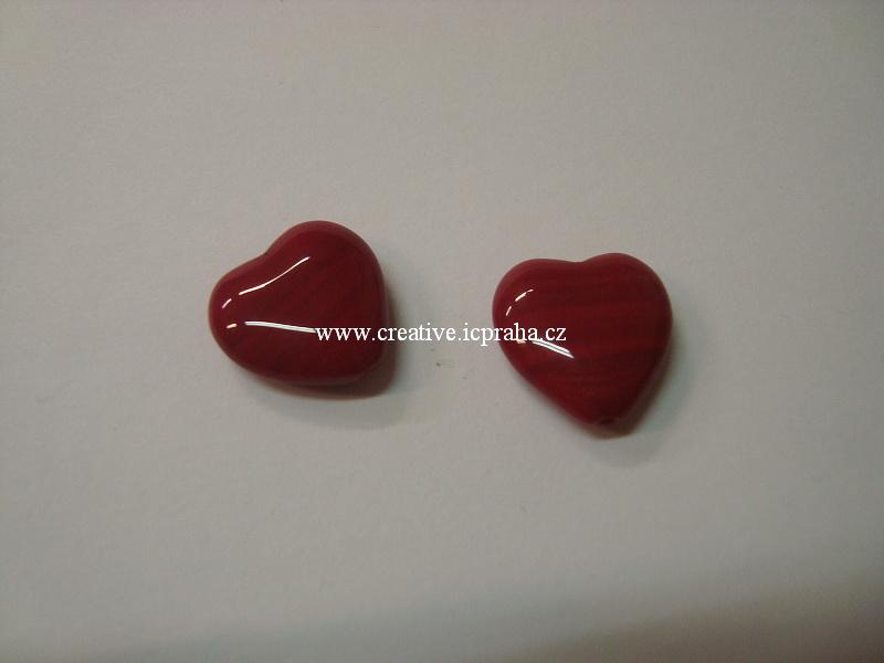 srdíčka 15x16mm červená bal.10ks