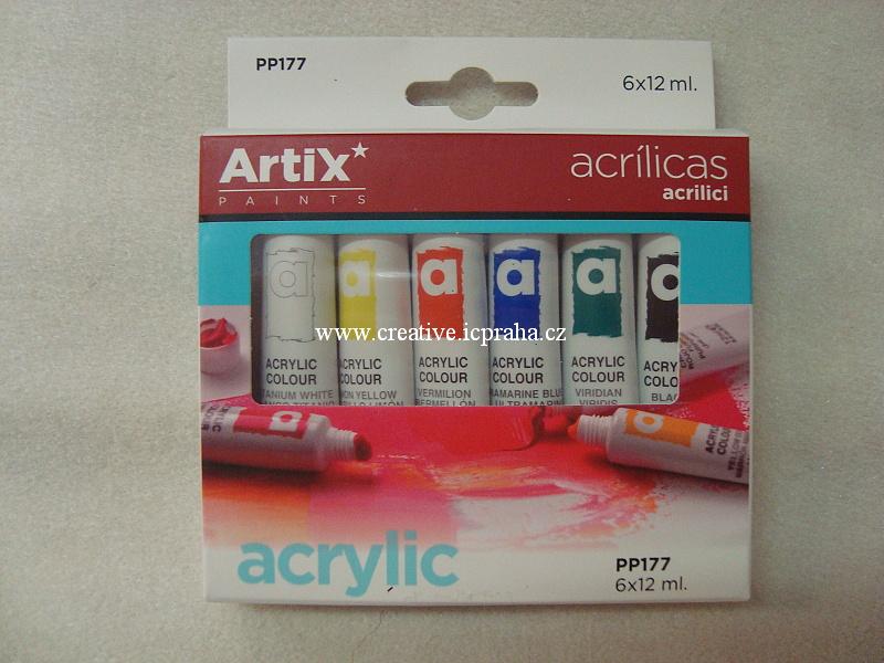 Artix akrylové barvy - sada 6x12ml