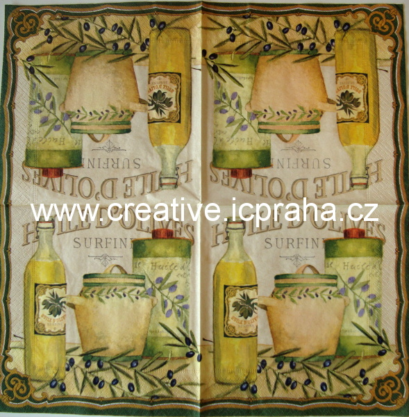 olivová větvička - Huile d´olives ATELIER
