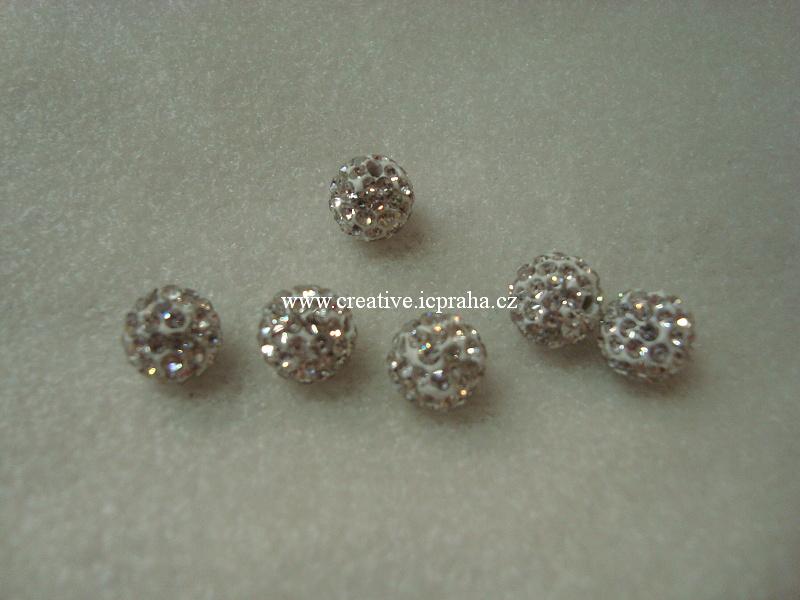 kulička se šatony 10mm - crystal