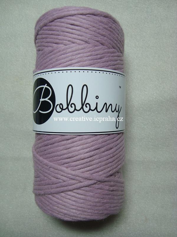 BobbinyMacrame Regular100m/3mm - růžová staro