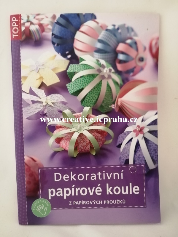 TOPP Dekorativní papírové koule z pap. proužků