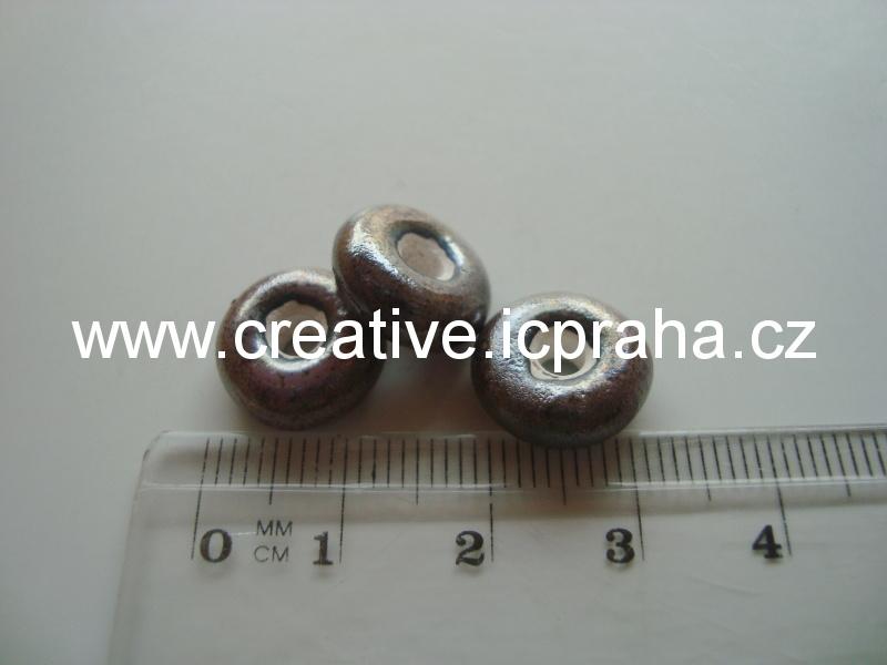 rondelka antracitová cca1cm