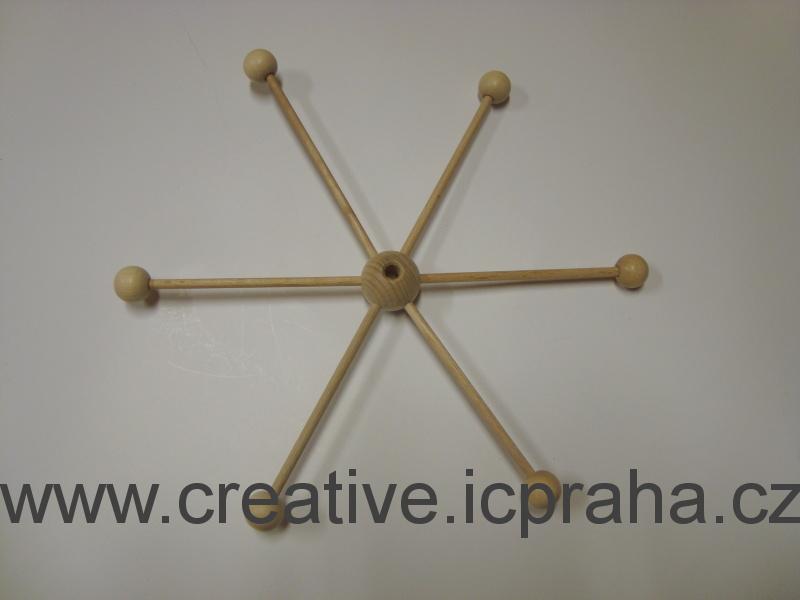 dřevěný mobil - stavebnice hvězda prům. 22cm