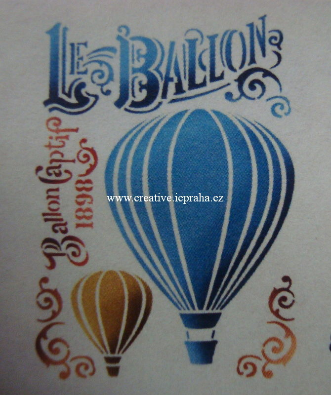 šablona plast STP A4 - Balón KSG372
