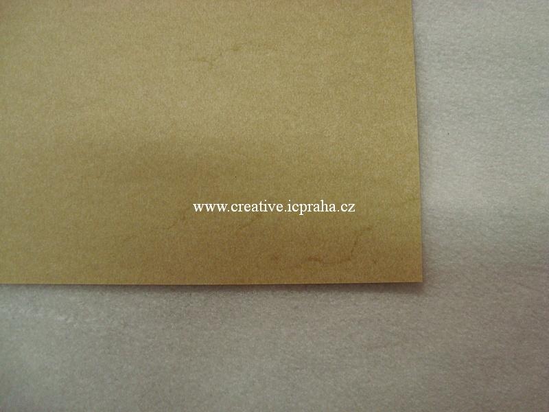 papír A4 mramorovaný 110g/m2 - okrový