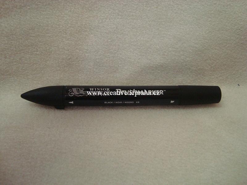 kalig.štětečkový oboustranný fix W&N - černý
