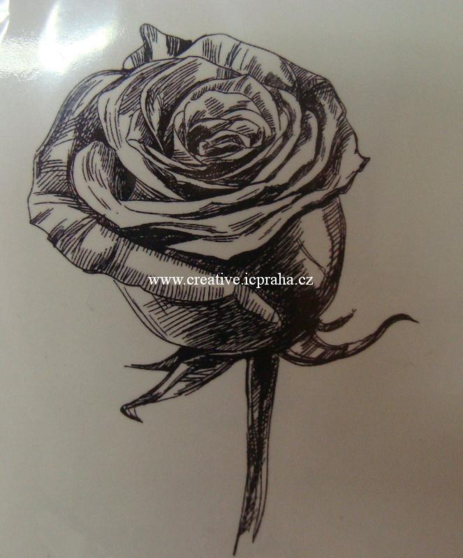 razítka Cling - Růže 4,2x6,5cm