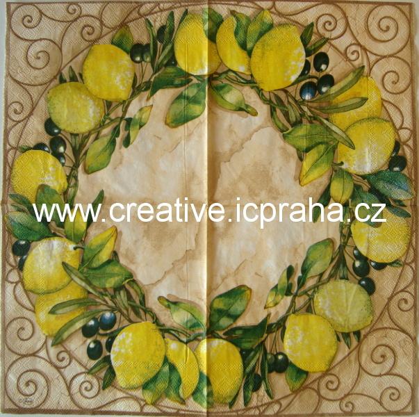 citronový věnec s černými olivami AMB3470