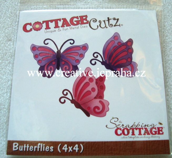 vyřezávací šablona  COTTAGE Cutz Motýli