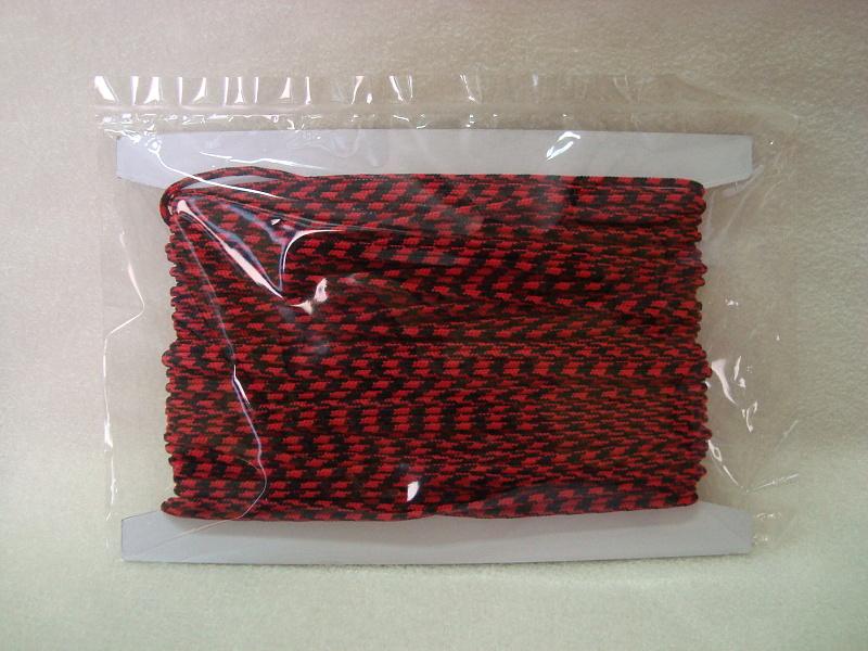 paracord 4mm červená+černá