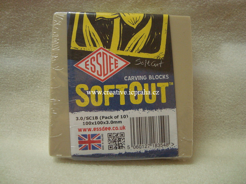 linoleum měkčené -Softcut 100x100x3mm