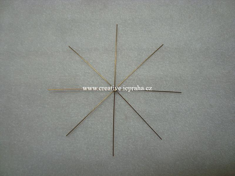 drát. hvězda pro korálk. ozdoby prům.10cm K6147020