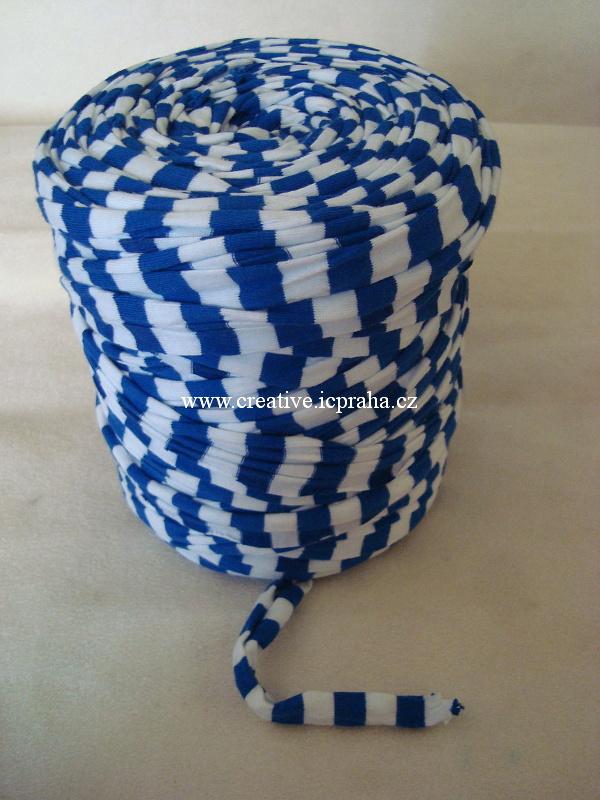 Noodle 120m - proužek modrá/bílá  8014050