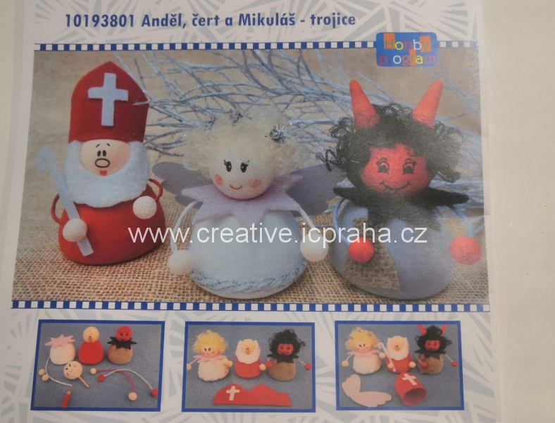 skládačka Anděl,čert a Mikuláš trojce 10193801