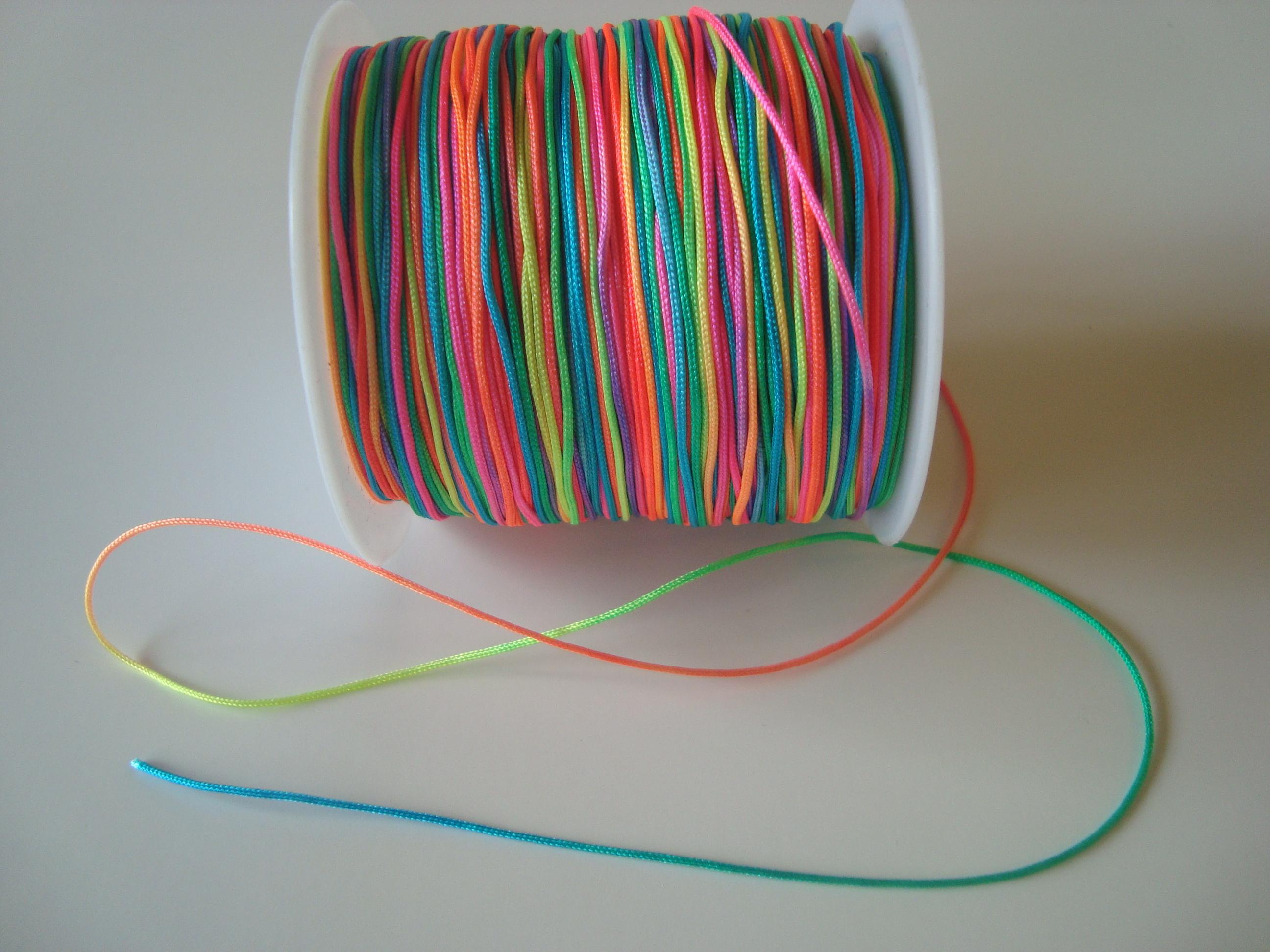 Nylonová šňůrka kulatá 1mm - barevná