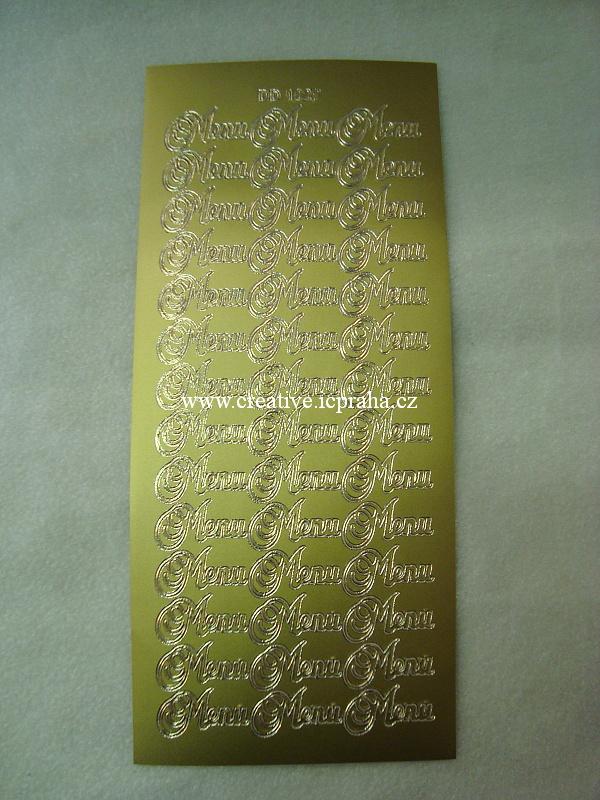 nápis - Menu - zlaté D1227101