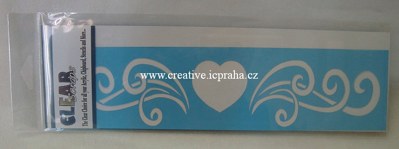 šablona CLSc - bordura srdce 30x7,5cm 126553