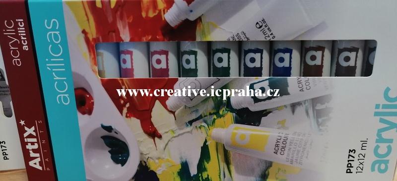 akrylové barvy - sada 24 x 12ml Pebeo