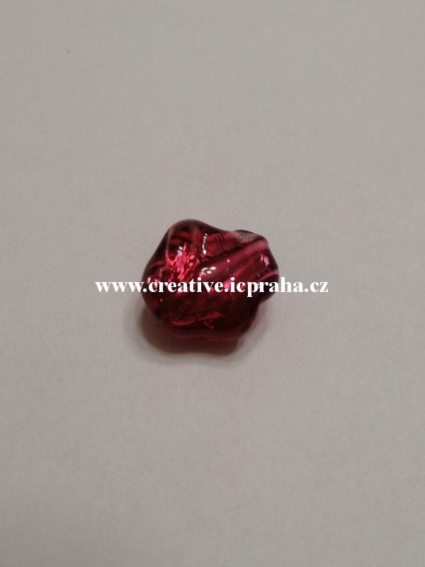 krucánek červený/stříbro 27019 14x10mm