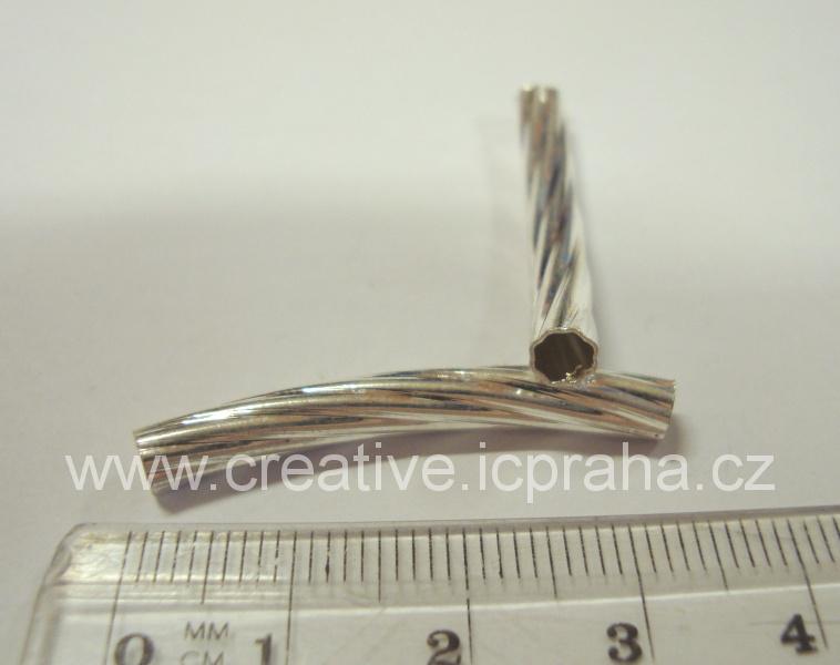 trubička oblouk rýhovaná 33mm