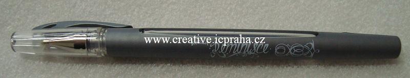 Gelové pero stříbrné 379121