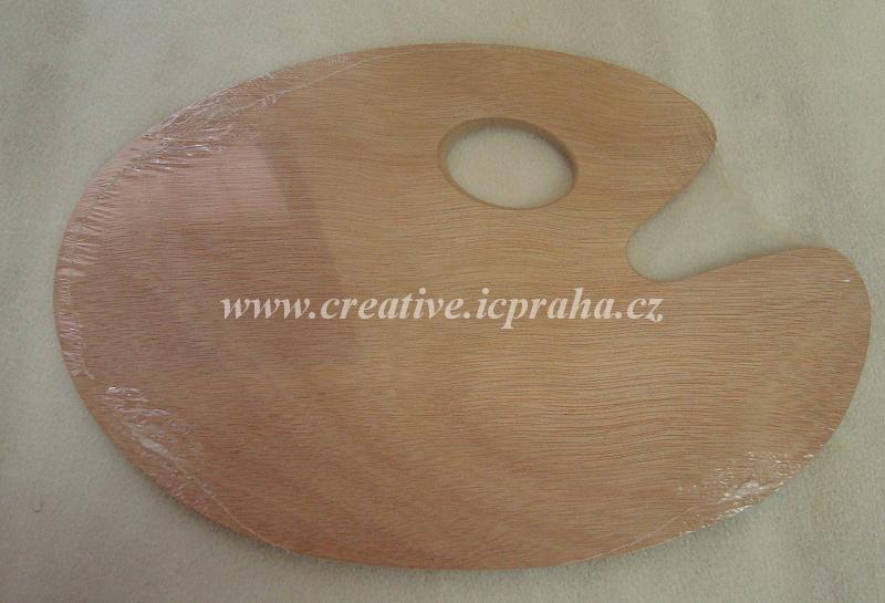 paleta malířská ovál - dřevěná 20x30cm LUKAS